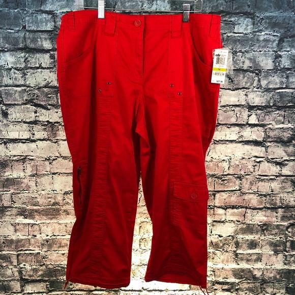 e1e2f5fc290252 Style & Co Pants   Style Co Plus Size Red Utility Capri   Poshmark